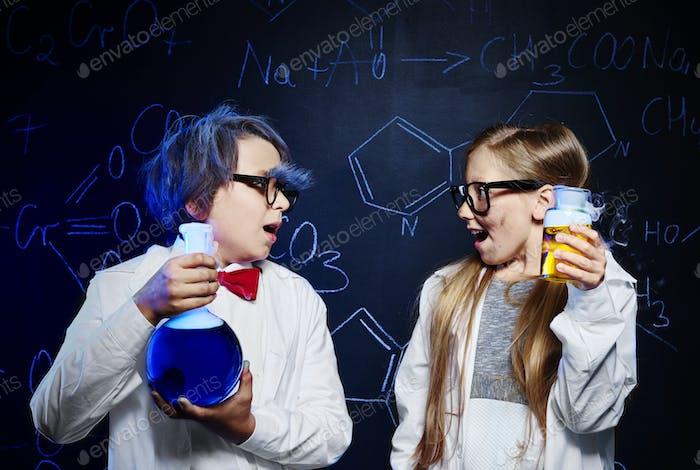 Crazy scientists with magic liquid