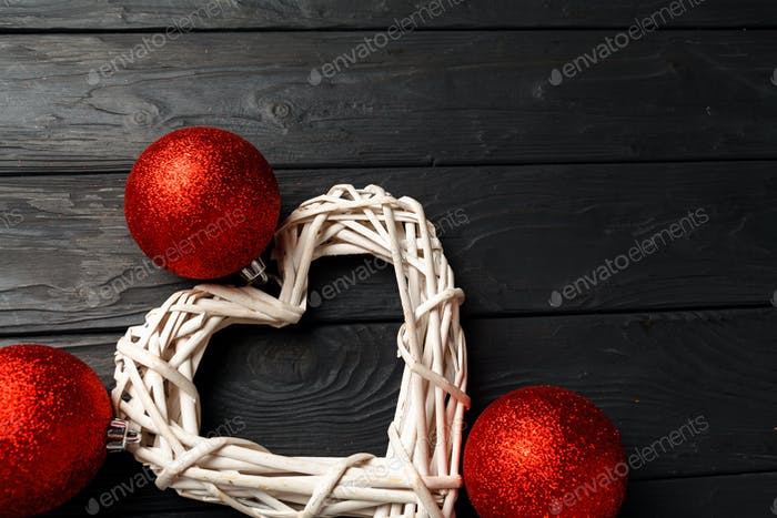 Simple Christmas festive background with copy space