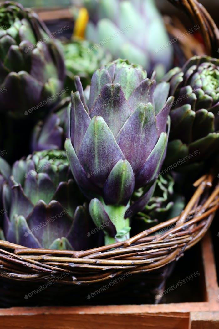 Purple Vegetables Artichokes