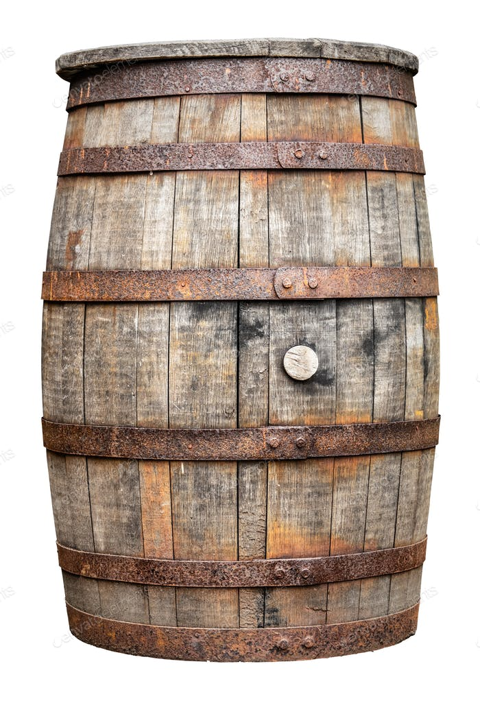 Vintage Wooden Beer Or Whiskey Barrel