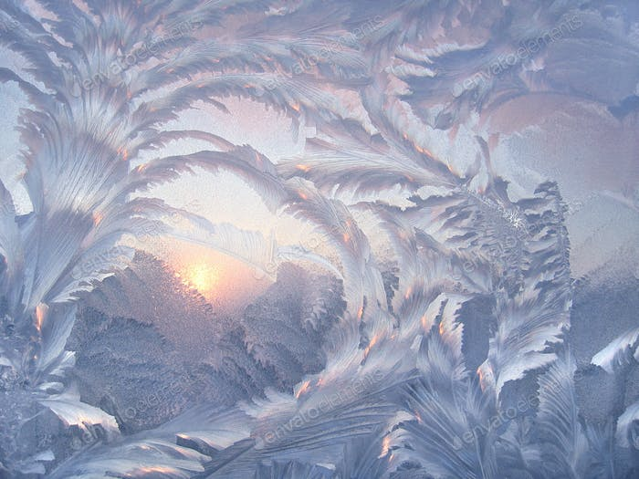 Schönes Wintermuster