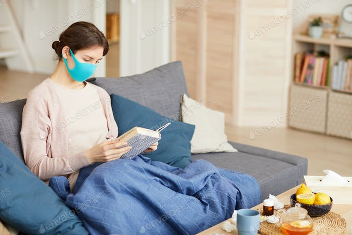 Woman stay home during pandemic