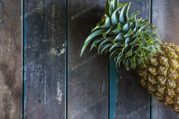 Pineapple on the wooden