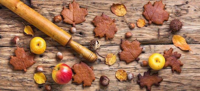 Seasonal autumn cookies