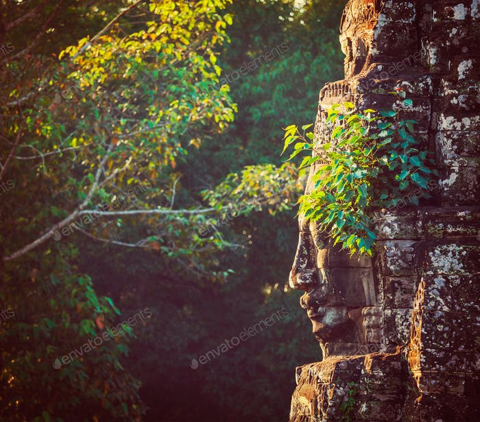 Face of Bayon temple, Angkor, Cambodia