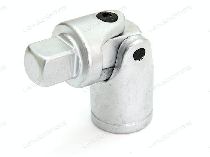 Schraubenschlüssel mit auf weißem Hintergrund