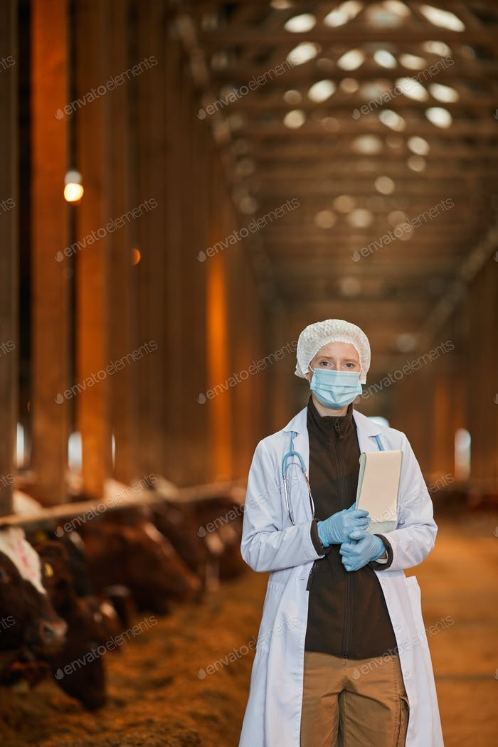 Female Veterinarian at Farm