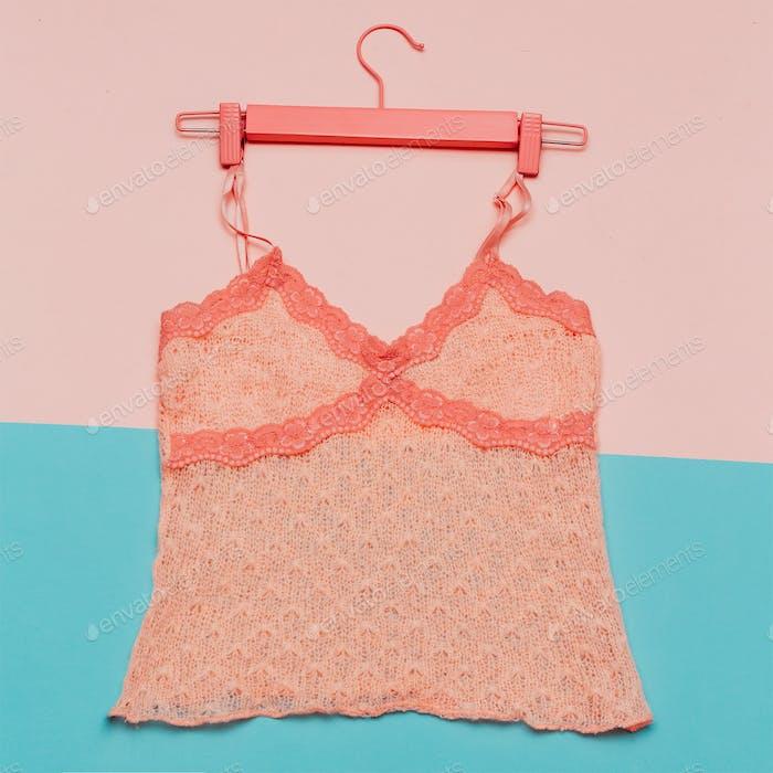 Minimal stylish knitted top fashion design