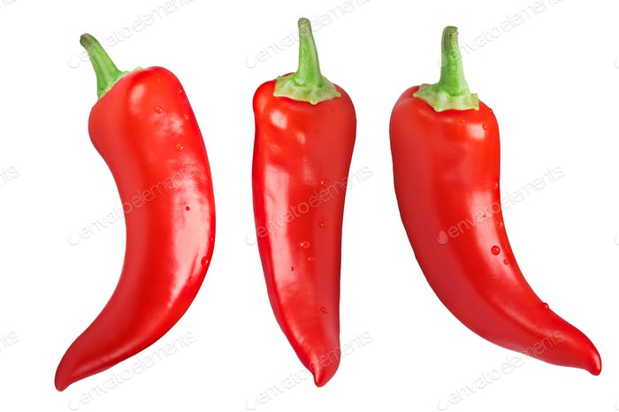 Paprika chili peppers