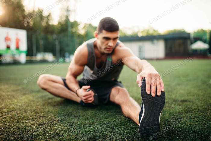Male athlete on outdoor fitness workout