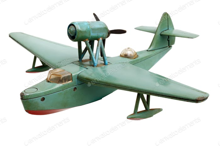 Hydro aeroplane old scale model