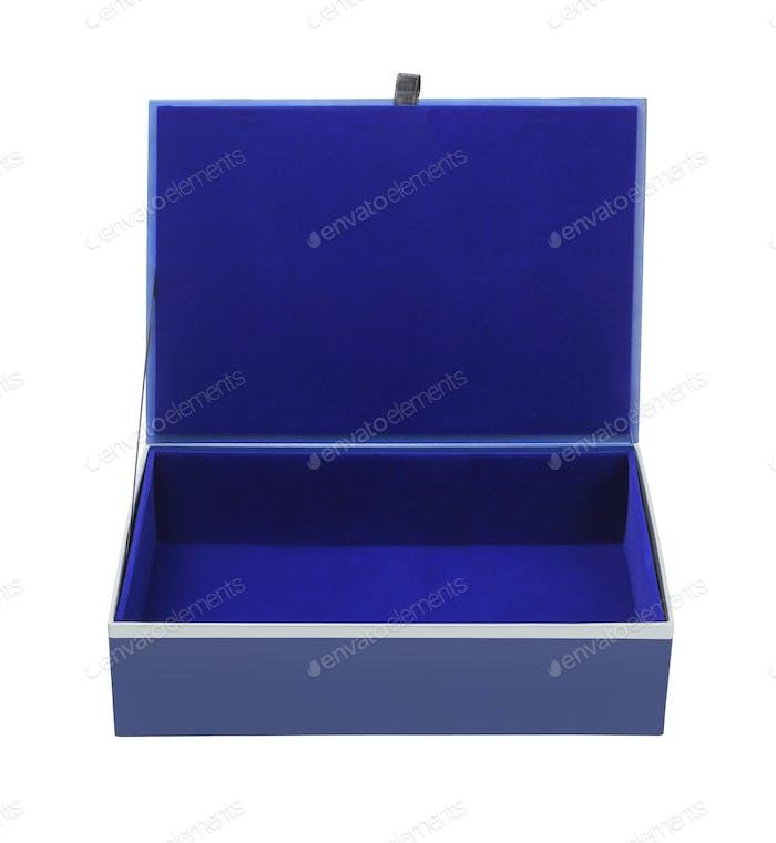 Empty Blue Gift Box