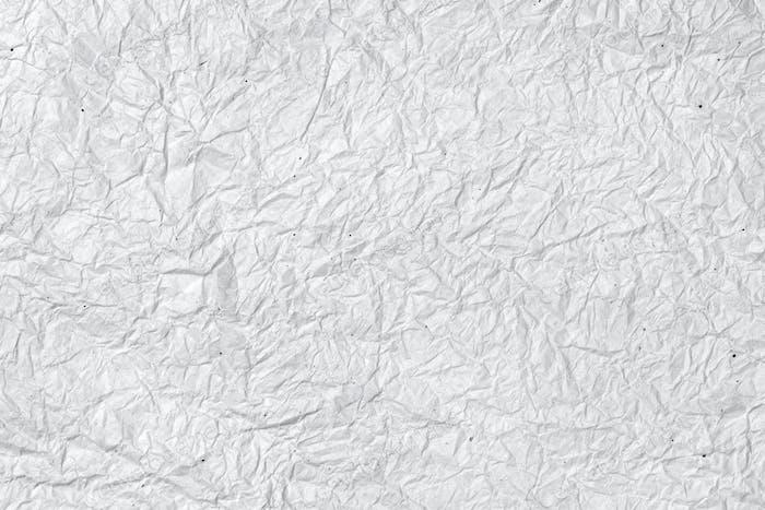 Fondo de papel blanco arrugado