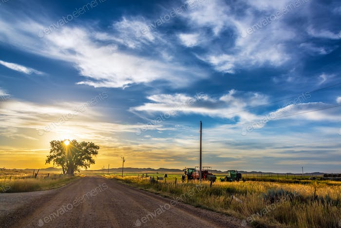 Rural Wyoming Landscape