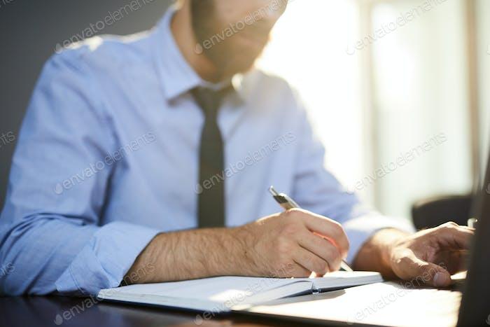 Employee planning work