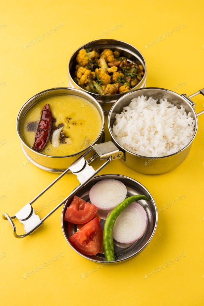 Thumbnail for Indische Lunchbox mit vegetarischer Küche