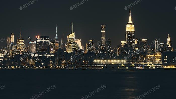 Nueva York por la noche.
