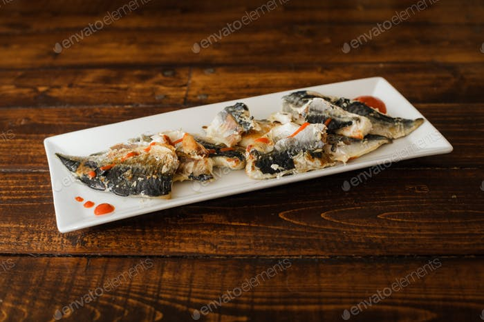 Mackerel Fillets and Spicy sauce