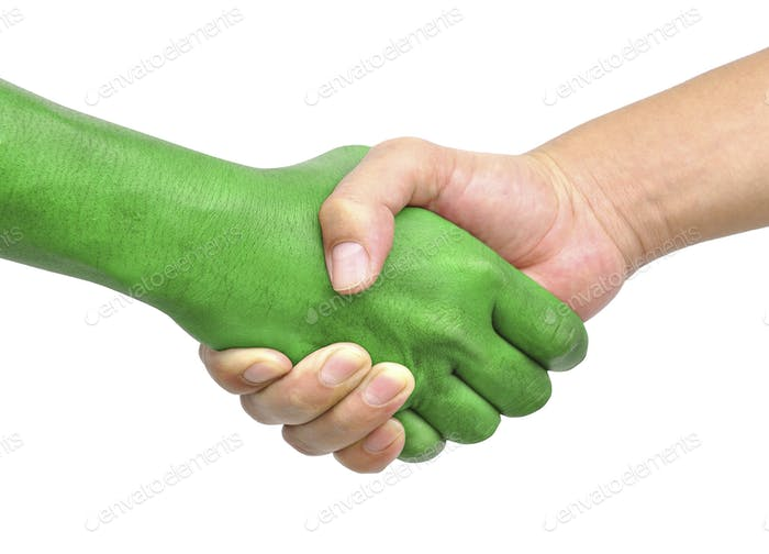shake hands isolated