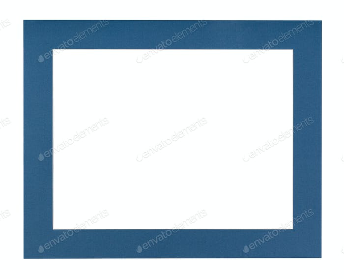 flat dark blue passe-partout for picture frame