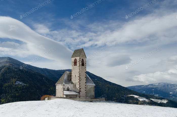 Church in Funes valley