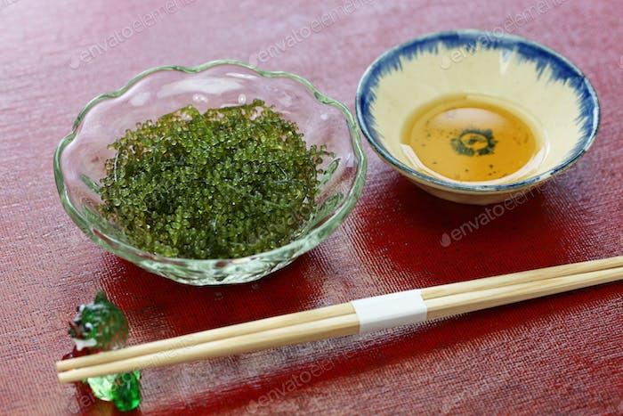 umi budo, green caviar, sea grapes, seaweed, edible algae