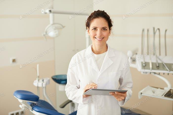 Female Dentist Posing