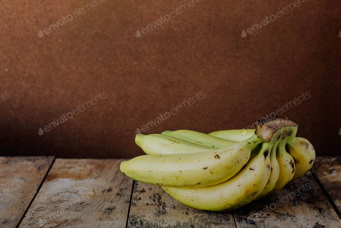 bananas on wood