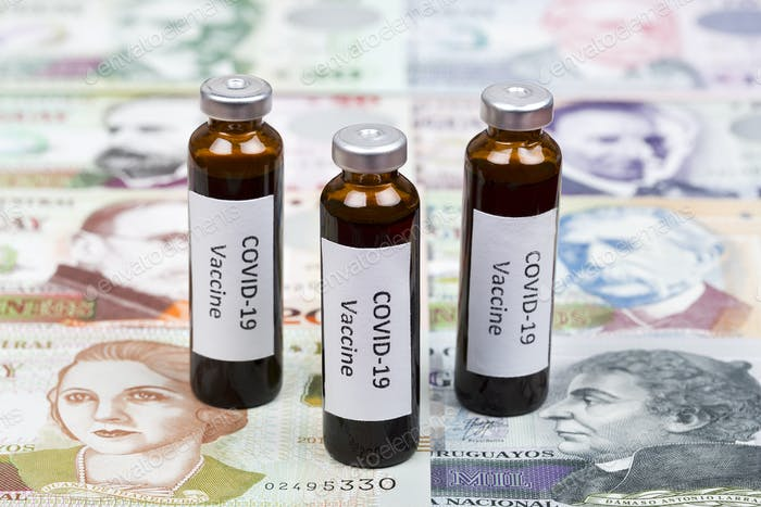 Vaccine against Covid-19 on the background of Uruguayan peso