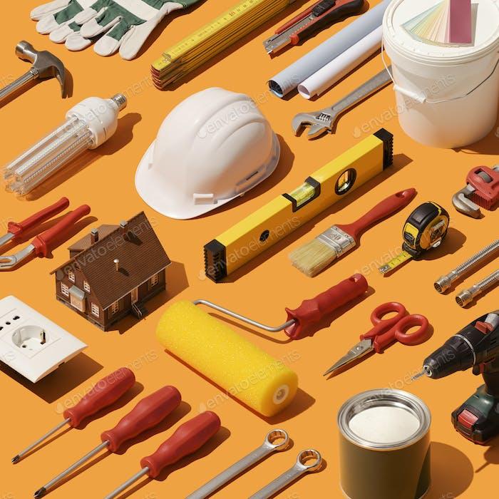 Heimwerker und Hausrenovierung