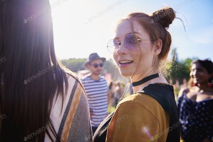 Portrait of boho girl at the festival