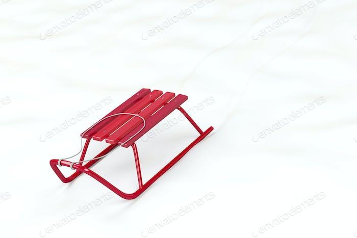 Roter Schlitten