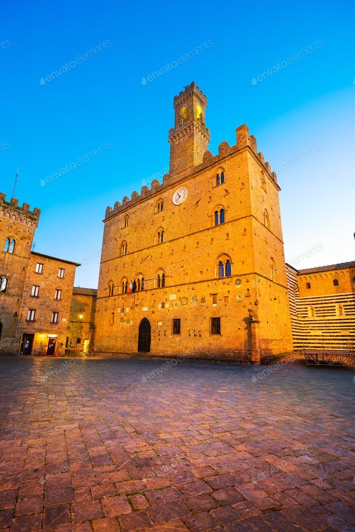 Volterra, medieval palace Palazzo Dei Priori, Pisa state, Tuscan