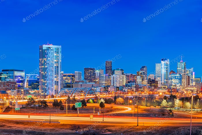 Denver, Colorado, USA Skyline