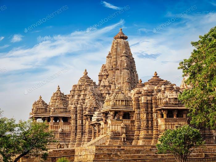 Famous temples of Khajuraho