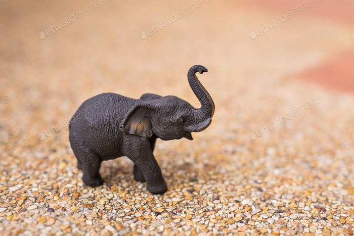 handmade wooden elephant close-up