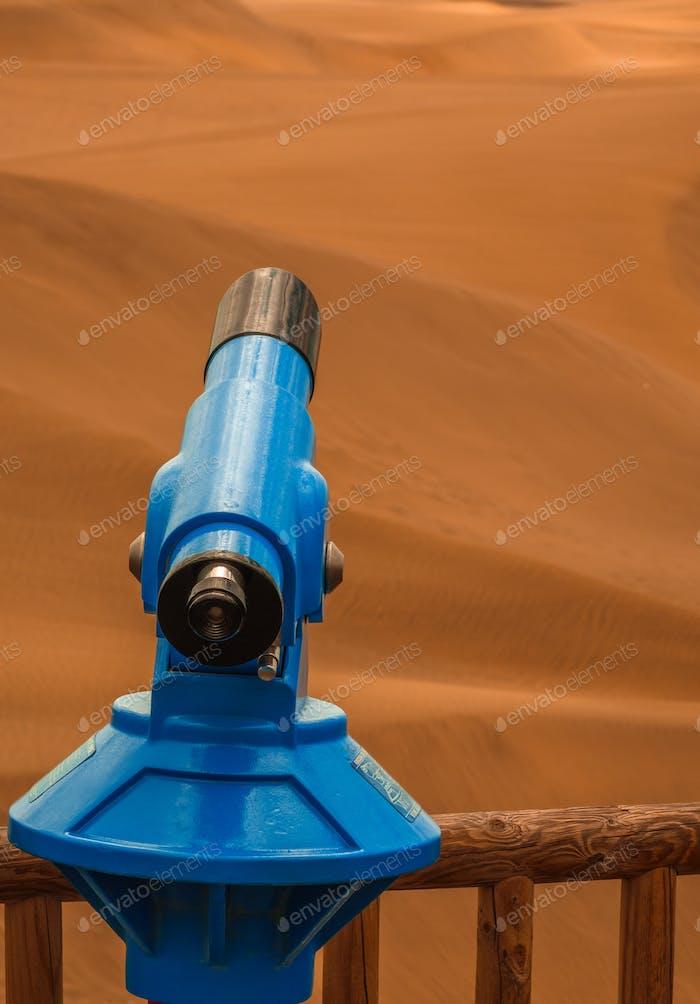 Teleskop für die Sanddünen