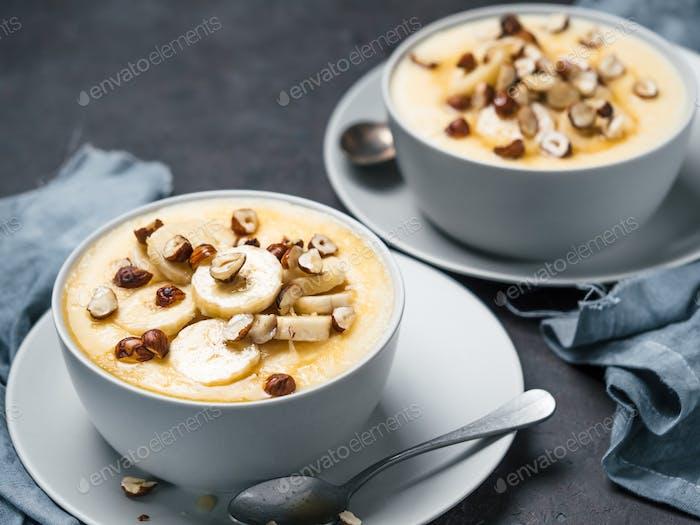 sweet corn polenta porridge