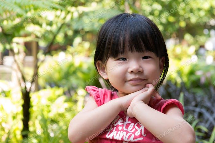 Porträt von schönen asiatischen Kind