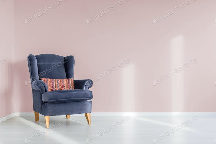 Armchair with pillow
