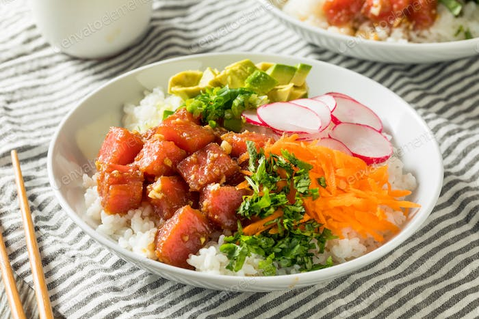 Homemade Ahi Tuna Poke Bowl
