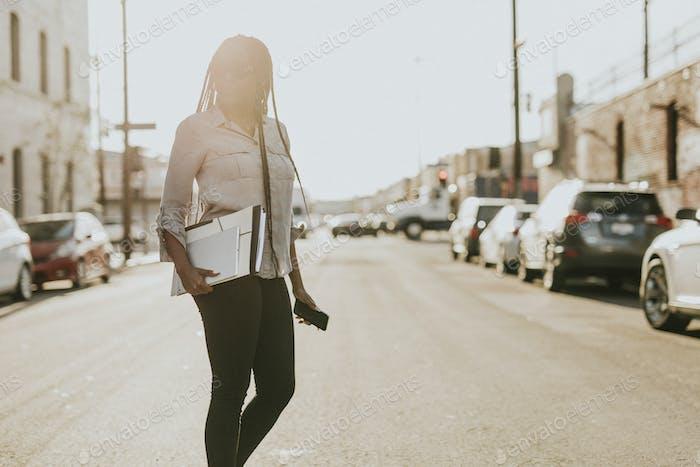 Woman on a street