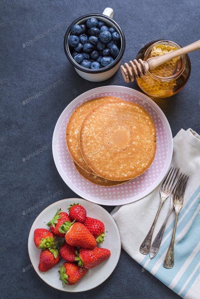 Pfannkuchen für Brunch Zutaten