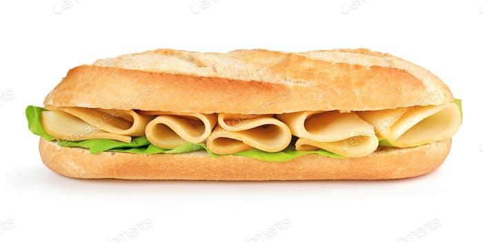 Käse und Salat U-Boot