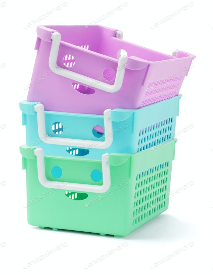 Three Plastic Baskets