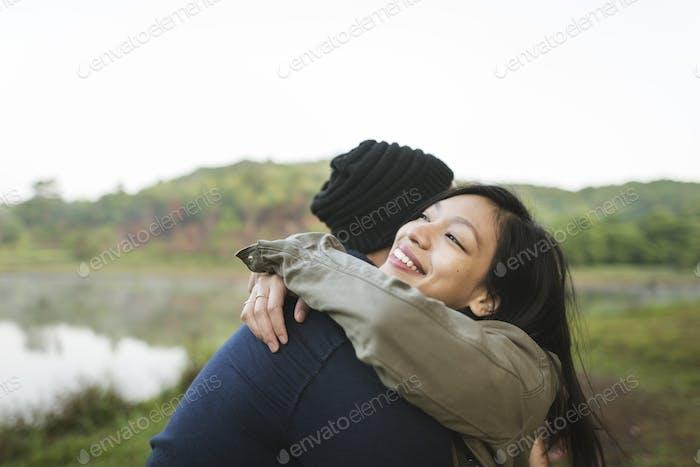 Couple Travel Adventure Happiness Exploration Concept