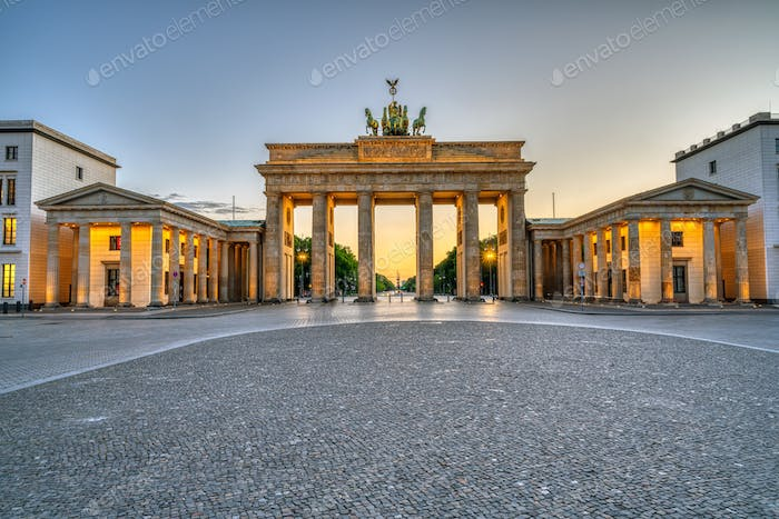 The iconic Brandenburg Gate in Berlin
