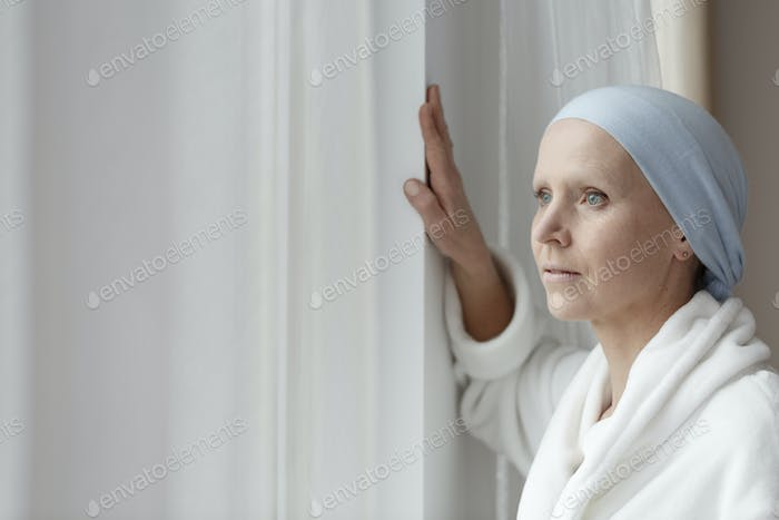 Struggling with cancer alone
