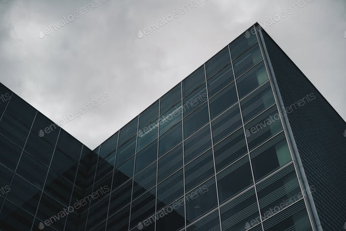Detail of a business and finance building