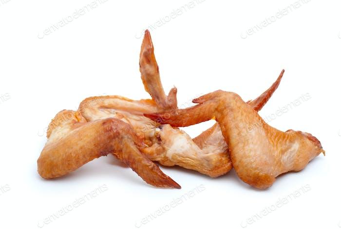 Einige geräucherte Hähnchenflügel